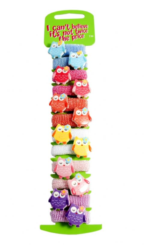 12 Owl Ponio Elastics Hair Hands
